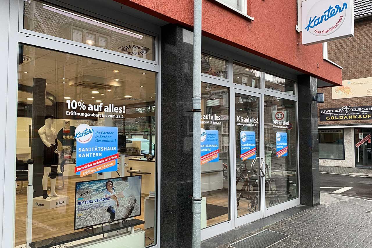 Sanitätshaus Kanters Kölner Straße Fischeln Außenansicht